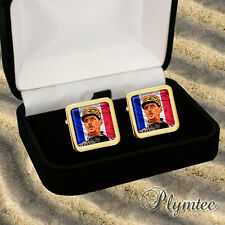 Men'S Cufflinks Gift Engraving Charles De Gaulle French General