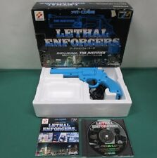 Mega CD Lethal Enforcers + Justifier gun. 1P dedicated blue gun. JAPAN. 13681
