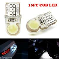 10PC T10 194 168 W5W COB 8 SMD LED CANBUS Silica Bright White License Light Bulb