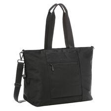 "Hedgren RFID Large Travel Tote Swing 13"" Laptop Water Repelant Handbag Black"