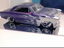 "Jada 1:24 1967 Chevy Nova ""SS"" Purple W/Silver Flames! VHTF! No Box!"