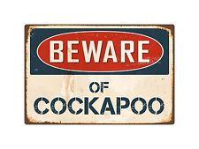 "Beware Of Cockapoo 8"" x 12"" Vintage Aluminum Retro Metal Sign VS113"