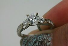 1.5ct 14k solid gold men made diamond engagement bridal ring free sizing