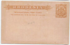 Mashonaland BSAC Victoria Post Card pre-paid 1.1/2d MNH