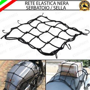 RETE RAGNO NERA ELASTICA PORTAPACCHI PORTA CASCO BORSE SERBATOIO MOTO SCOOTER