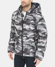 Tommy Hilfiger Mens Camouflage Hoodie Quilted Puffer...