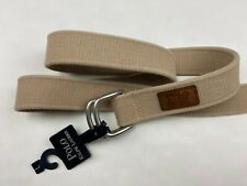 Polo Ralph Lauren Men's Tan Rope Cotton Belt Leather Accent Size Large NWT