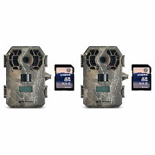 Stealth Cam 10MP Video Infrared Hunting Game Trail Camera, 2 Pack + 8GB SD Cards