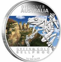 2012 DISCOVER AUSTRALIA BELLFROG Silver 1 oz Coin