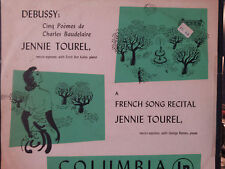 JENNIE TOUREL French Song Recital ML 4158 ANDY WARHOL COVER ART 1949