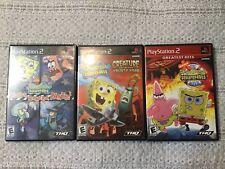 Playstation 2 Spongebob Lot Of 3 Games