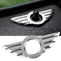 Car Door Pin Lock Wing Cooper Badge 3D Emblem Chrome  For BMW MINI R50 R53 R56