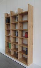 Bücherregal Wildeiche Massivholz geölt Rustikal Bücherwand Regalwand nach Maß