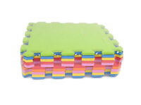 Tappeto puzzle schiuma morbido colorato 10 pz giocattoli bambini antiurto