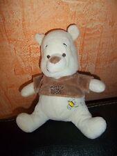 Doudou Disney Baby Winnie L'ourson Beige Tee Shirt Marron  Abeille sur Le Ventre
