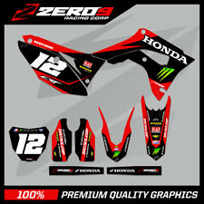 HONDA CR125-250 2004-2007 CRF250-450 2004-2020 MOTOCROSS MX GRAPHICS KIT GRN NRG