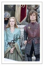 PETER DINKLAGE & LENA HEADEY GAME OF THRONES SIGNED PHOTO PRINT AUTOGRAPH