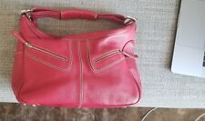 AUTHENTIC Tod's Red Leather Miky Hobo Bag