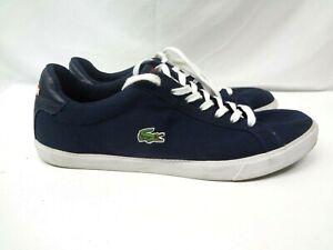 Lacoste Vulc FB Canvas Athletic Sport Fashion Sneaker Shoes Blue Men's Size 13