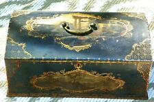 Large 19th Century Tole Painted Metal Cash/Document/Safety Box