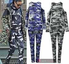 Polyester Camouflage Plus Size Activewear for Women
