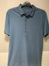 All Saints Polo Shirt Mens Size Medium Slim/Fitted
