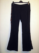 Gorgeous Sequin Detail Dark Brown Trousers from Warehouse - Size 12 - Worn Once!