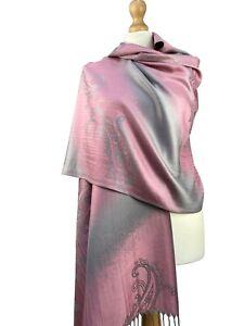 New Women Pashmina Paisley Printed Scarf Ladies Premium Soft Hijab Shawl Wrap