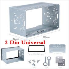 2 Din Universal Metal Car DVD Stereo Radio Fascia Panel Mounting Frame Dash Kit