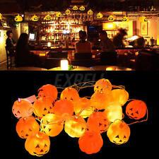 16 Mini Pumpkins LED String Light For Pumpkin Lights For Halloween Decoration