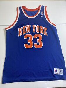 Vintage Patrick Ewing Champion Jersey New York Knicks Mens Size 48 XL NBA 90s