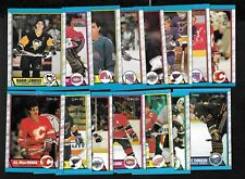 1989-90 OPC O PEE CHEE NHL HOCKEY CARD AND BOX BOTTOM SEE LIST