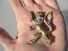 Vintage Bronze Furniture Hardware Mount Antique Ormolu English Crest Lion Old