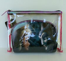 Disney Soho Sleeping Beauty Good vs Evil Clutch Makeup Cosmetics Bag Aurora ✔