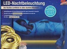 LED Nachtbeleuchtung Nachtlicht Lichterschlauch 2 x 1,5m Bewegungssensor