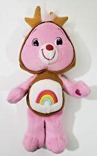"""Care Bear Cheer Bear 11"""" Plush Pellet Bean Filled Reindeer Outfit 2007"""