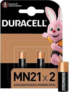 DURACELL MN21 12V LRV08 ALKALINE BATTERIES 23AE 23A A23 V23GA LONG EXPIRY 2025