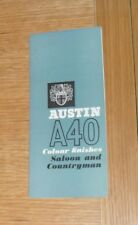Austin A40 Colour & Trim Guide 1962-1963