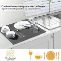 2 Tapis de séchage  Microfibre, égouttoir à Vaisselle à séchage Rapide   Lavable