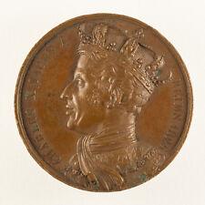 Médaille Charles X sacré à Reims - 1825 - signée BRUN