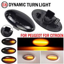 Dynamic Smoke Lens LED Side Marker Lights For Peugeot 107 206 307 Citroen C1 C2