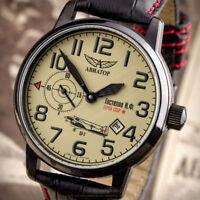 AVIATOR GASTELLO Poljot 3105 Fliegeruhr WW2 russische Uhren 3105/1734388