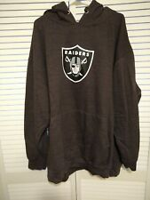 Oakland Raiders Majestic Hooded Sweatshirt Hoodie Men's 4XL