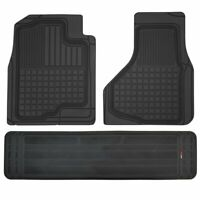 3pc Perfect Fit Heavy Duty Floor Mats for 2009-2014 Dodge Ram Pickup Black