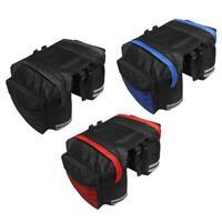 #QZO Mountain Bike Bicycle Double Side Rear Rack Tail Seat Trunk Bag Pannier Bag