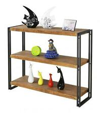 Ironstone Industrial Bookcase, Small W100xD30xH85, Metal, Timber Look Shelves.