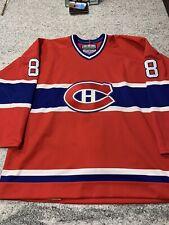 Vintage Authentic Montreal Canadiens Jersey 1980's CCM Size 52