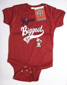 Minor League Baseball Roughriders Boys Infant Creeper, Newborn/6 Months, Red