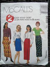 McCalls 8835 Wrap Skirt SEWING Pattern Sizes 8,10,12