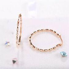 "mini Cz 1"" hoop earrings Delicate simple rose gold plated multi"